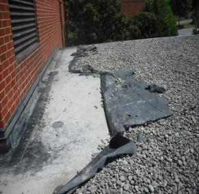 Water Leaking under EPDM Rubber Roof