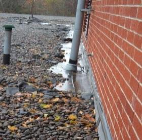 Ponding Water on commercial roofing at wall causing leaking